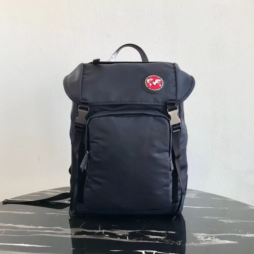 Prada Re-Nylon backpack 2VZ135 black&red