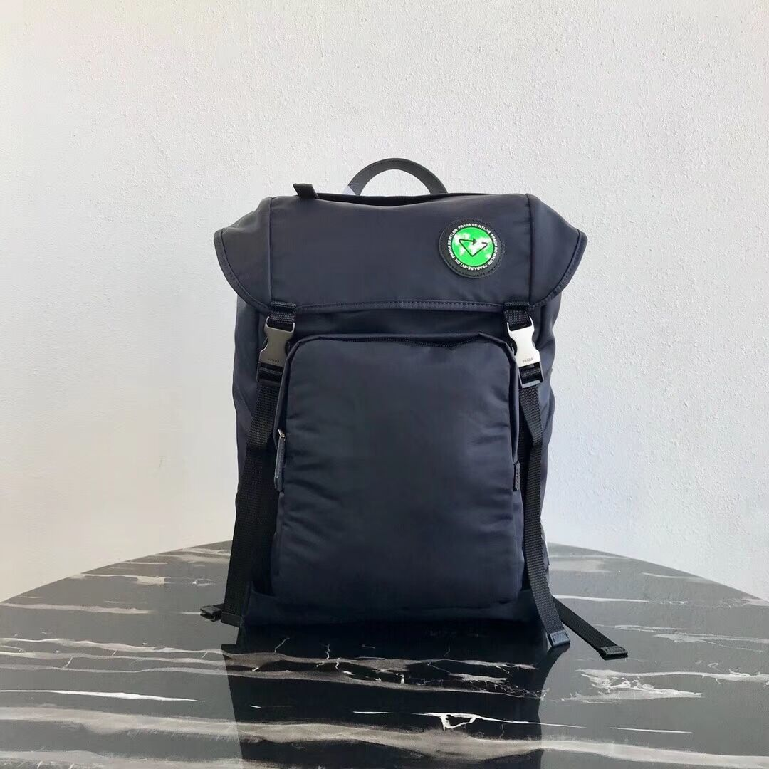 Prada Re-Nylon backpack 2VZ135 black&green