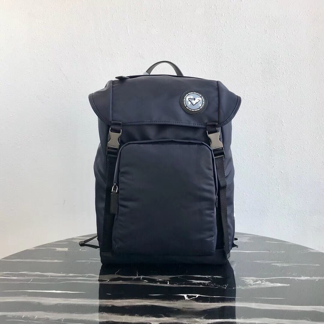 Prada Re-Nylon backpack 2VZ135 black&grey