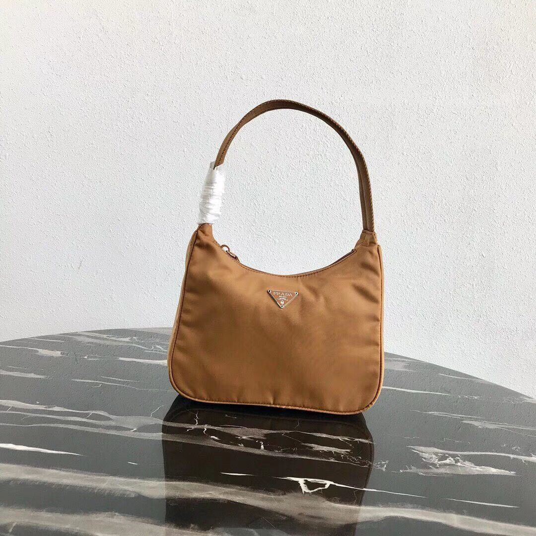 Prada Re-Edition nylon Tote bag MV519 brown