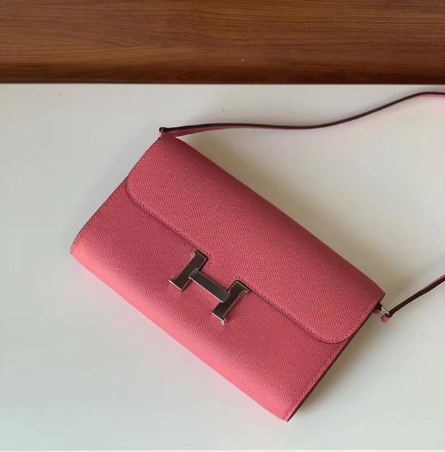 Hermes Constance to go mini Bag H4088 rose
