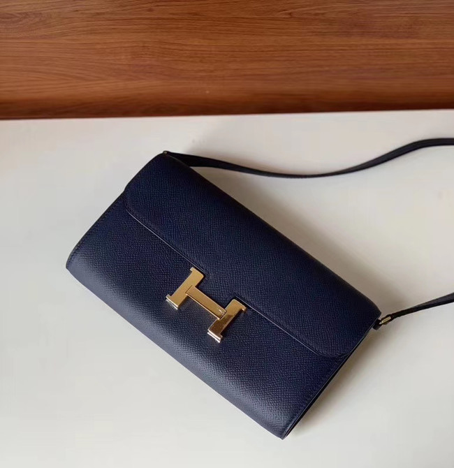Hermes Constance to go mini Bag H4088 royal blue