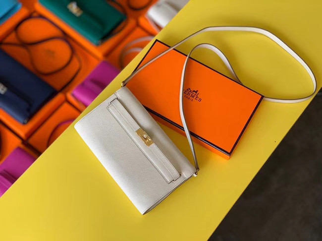 Hermes Original kelly espom leather to go woc Bag H4087 cream