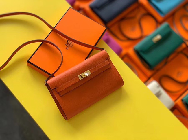 Hermes Original kelly espom leather to go woc Bag H4087 orange