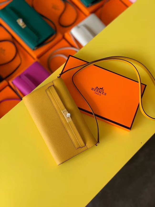 Hermes Original kelly espom leather to go woc Bag H4087 yellow