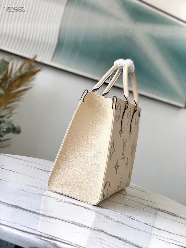 Louis Vuitton Original Onthego medium tote bag M45495 cream